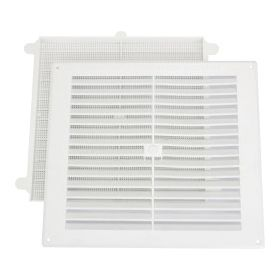 """Map White Louvred Vent (with Removable Flyscreen) Opening Size: 9"""" x 9"""" - 229 x 229mm 500221"""