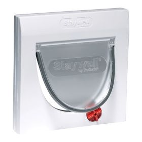 Petsafe Manual 4 Way Locking Classic Cat Flap White with out Tunnel 651325