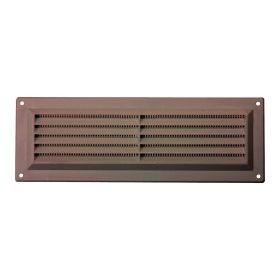 """Map Brown Louvred Vent (with Fixed Flyscreen) Opening Size: 9"""" x 3"""" - 229 x 76mm 376347"""