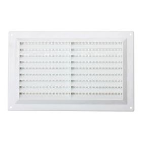 """Map White Louvred Vent (with Fixed Flyscreen) Opening Size: 9"""" x 6"""" - 229 x 152mm 492049"""