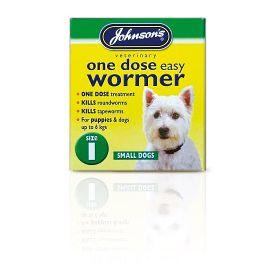 Johnsons Vet One Dose Easy Wormer Size 1 3 x 100mg Tablets 200728