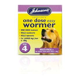 Johnsons Vet One Dose Easy Wormer Size 4 8 x 500mg Tablets 200757