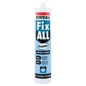 Soudal Fix All Super Strong Sealant/Adhesive 290ml Cartridge Crystal Clear 313620