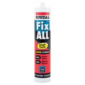 Soudal Fix All Super Strong Sealant/Adhesive 290ml Cartridge White 313618