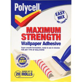Polycell Maximum Strength Wallpaper Adhesive 20 Roll 300685