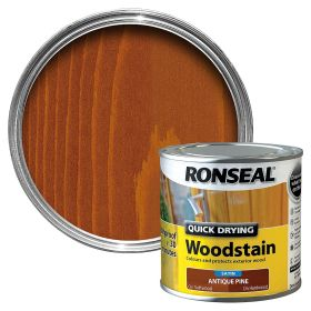 Ronseal Quick Drying Woodstain Satin 250ml Antique Pine 503150