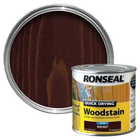 Ronseal Quick Drying Woodstain Satin 250ml Walnut 503949