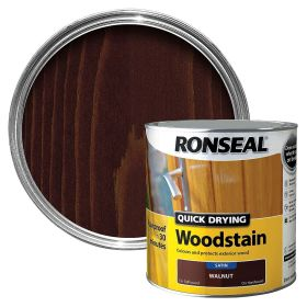 Ronseal Quick Drying Woodstain Satin 2.5L Walnut 324730